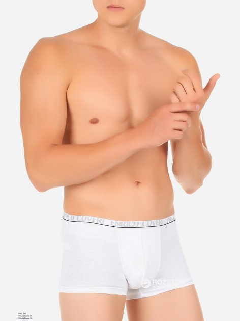 Трусы-шорты Enrico Coveri ЕВ1001 S Белые (ROZ6205031638) - изображение 1