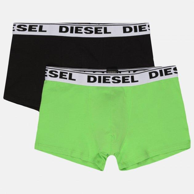 Трусы-шорты Diesel Umbx-Korytwopack Boxer 2pack 00CGDH/RQARZ/E2000 M Черный/Зеленый (8053837523961) - изображение 1
