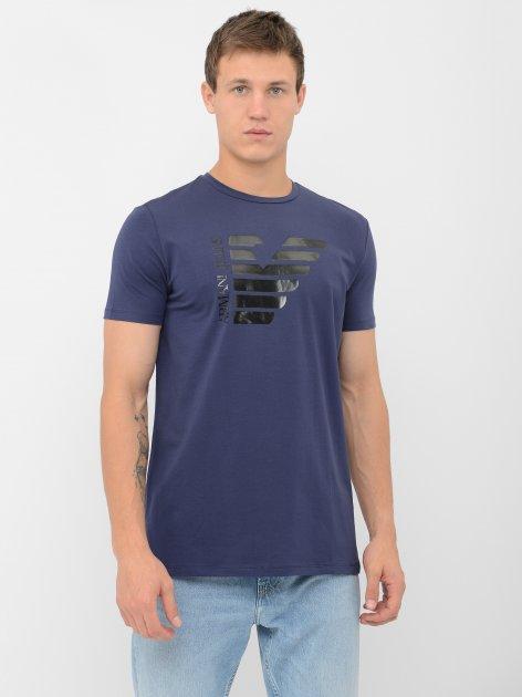 Футболка Armani Jeans 10254.3 S (44) Синяя - изображение 1
