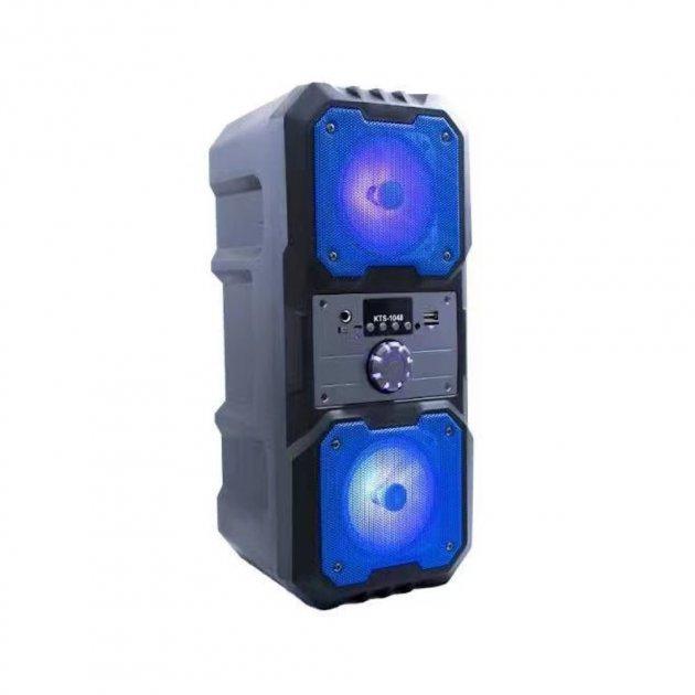 Портативная беспроводная Bluetooth колонка KTS 1048 аккумуляторная с пультом 10 Вт Синяя - изображение 1