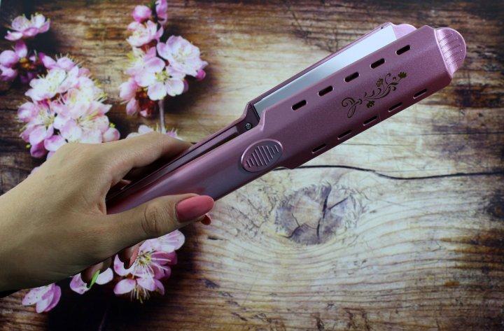 Выпрямитель для волос Gemei GM 2957 с регулировкой температуры Розовый - изображение 1