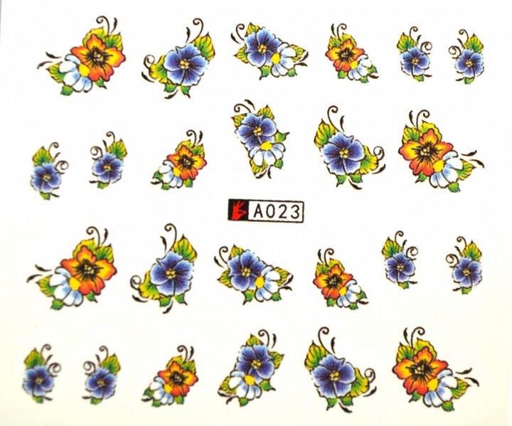 Набір водних наклейок для нігтів YB Mats A023 - зображення 1