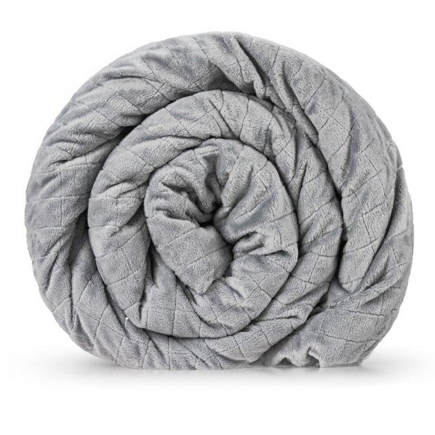 Утяжеленное (тяжелое) сенсорное одеяло GRAVITY 135x200см 8кг Серое - изображение 1