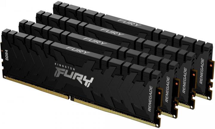 Оперативная память Kingston Fury DDR4-3200 131072MB PC4-25600 (Kit of 4x32768) Renegade Black (KF432C16RBK4/128) - изображение 1