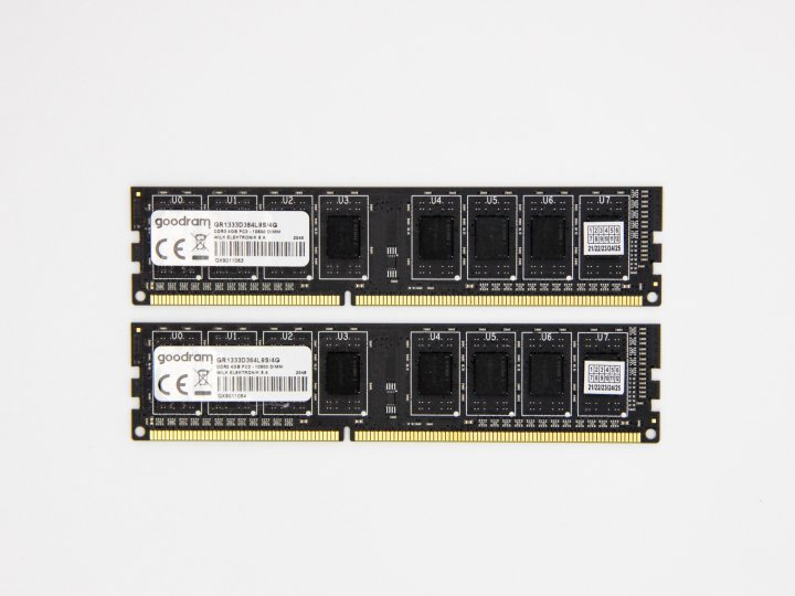 Оперативна пам'ять Goodram DIMM 8Gb (2*4Gb) DDR3-1333MHz PC3-10600 CL9 (GR1333D364L9S/4G) Refurbished - зображення 1