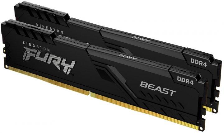 Оперативна пам'ять Kingston Fury DDR4-3733 16384 MB PC4-29864 (Kit of 2x8192) Beast Black (KF437C19BBK2/16) - зображення 1
