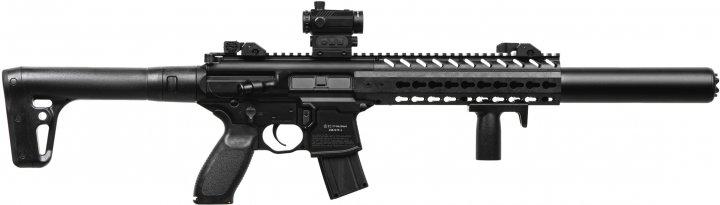 Пневматическая винтовка Sig Sauer MCX FDE с прицелом Micro Red Dot калибр 4.5 мм (AIR-MCX-MRD-177-88G-30-BL) - изображение 1