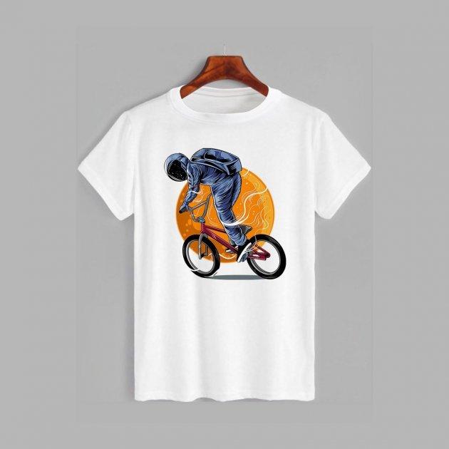 Футболка Likey Космонавт на BMX M150-1122 XL Белая (2000001211274) - изображение 1