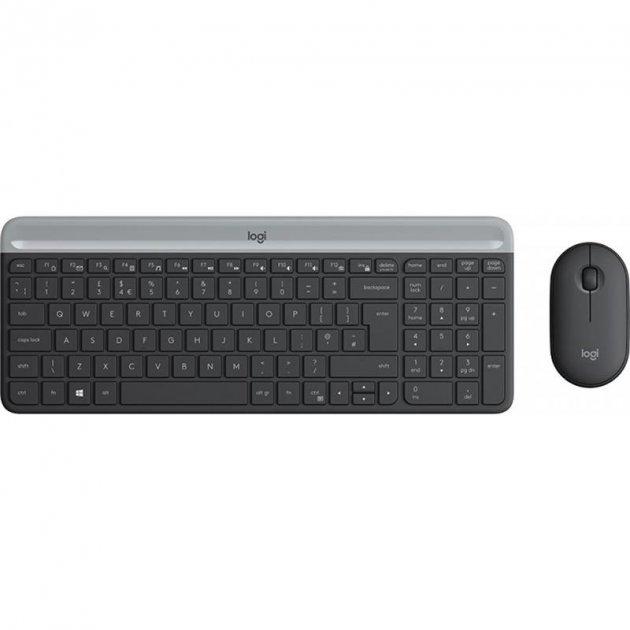 Комплект (клавіатура, миша) Logitech MK470 Wireless Slim Graphite (920-009206) - зображення 1