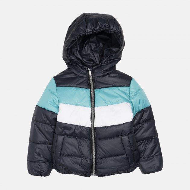 Демисезонная куртка Одягайко 22739 122 см Синяя с бирюзовым (ROZ6400141884)