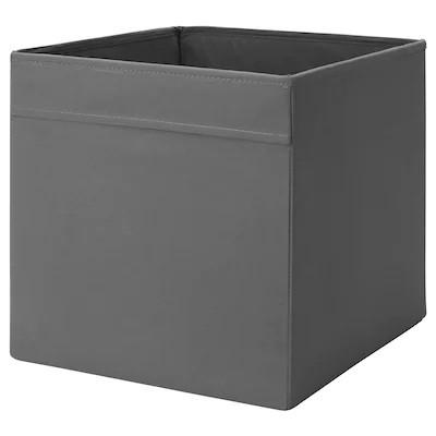Коробка для хранения IKEA (ИКЕА) DRÖNA 33x38x33 см Темно-серая 104.439.74 - зображення 1