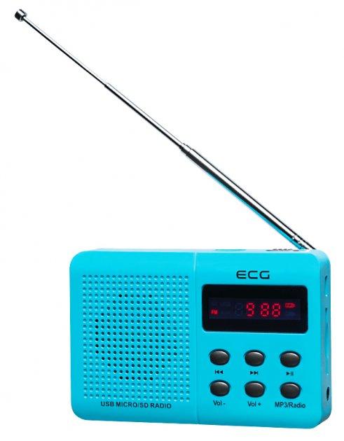 Портативний радіоприймач ECG R 155 U Блакитний - изображение 1