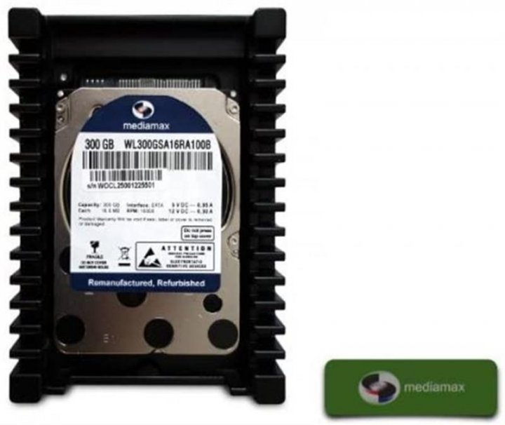 "Накопитель HDD 3.5"" SATA 300GB Mediamax 10000rpm 16MB (WL300GSA16RA100B) Refurbished - зображення 1"