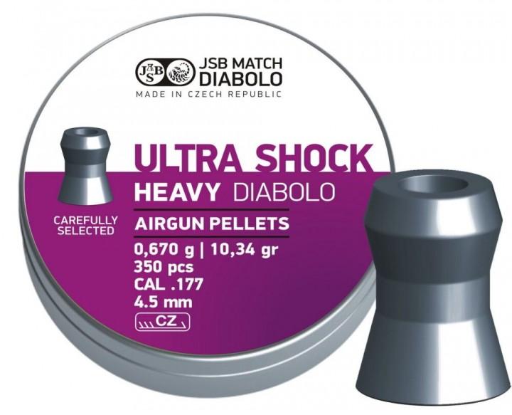 Кулі пневматичні JSB King Heavy Ultra Shock Кал. 4.5 мм Вага- 0.67 г 350 шт/уп 14530560 - зображення 1