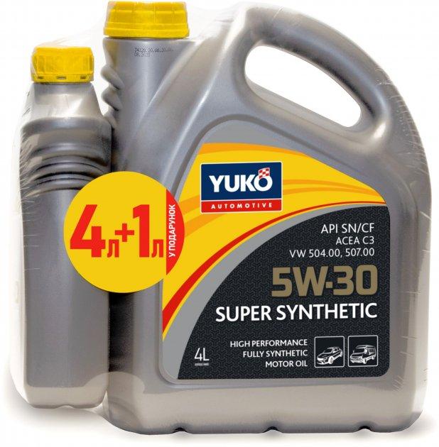 Моторна олива Yuko Super Synthetic C3 5W-30 4 л + 1 л (4820070245660_stock) - зображення 1