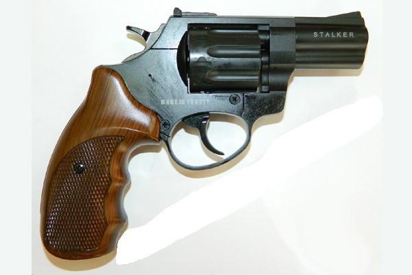 """Револьвер під патрон Флобера Stalker 2.5 """"Wood"""" (сталевий барабан) - зображення 1"""