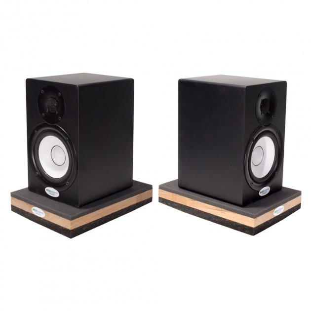 Підставки під акустичні монітори або сабвуффер Ecosound Acoustic Stand Pro 53 30х20 см Чорний графіт - зображення 1