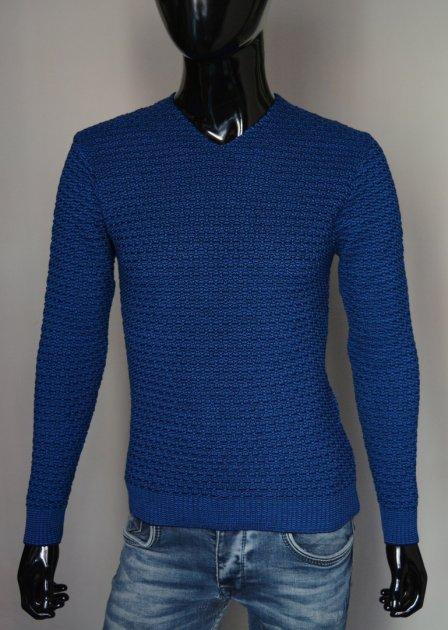 Мужская кофта пуловер DressCode Турция M ярко-синяя 2350 - изображение 1