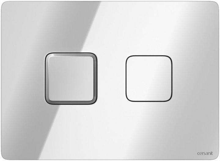 Панель смыва CERSANIT Accento Square S97-057 хром глянцевый - изображение 1