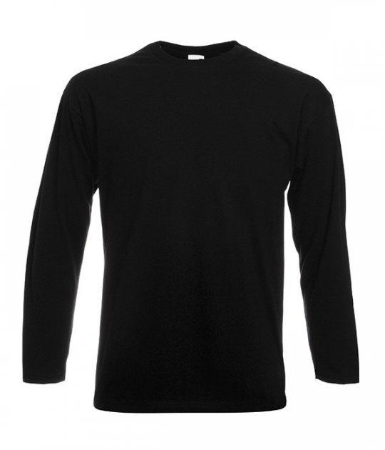 Полегшена футболка з довгим рукавом Fruit of the Loom S Чорний (D061428036S) - зображення 1