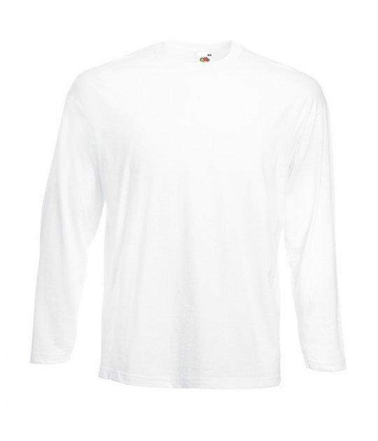 Полегшена футболка з довгим рукавом Fruit of the Loom XL Білий (D061428030XL) - зображення 1