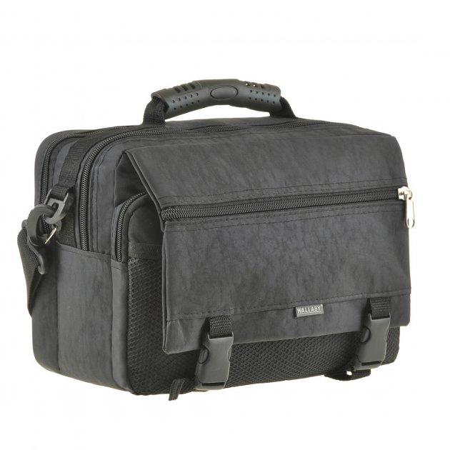 Чоловіча сумка горизонтальна Wallaby 30х23х17 колір чорний, тканина «Кордура» в2425ч - зображення 1