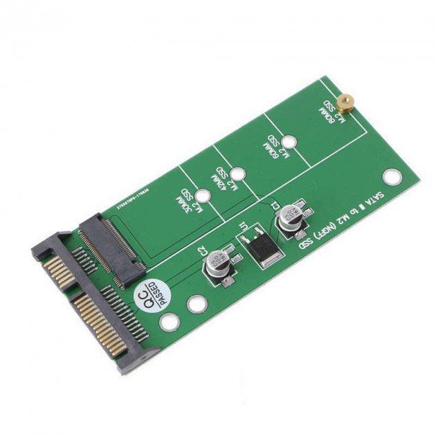 "Адаптер NGFF M. 2 to SSD 2.5"" SATA 3 (STLab) - зображення 1"
