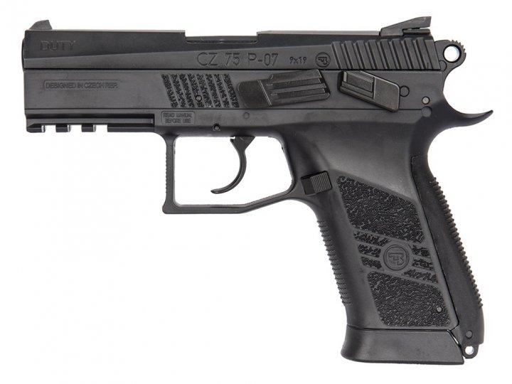 Пістолет пневматичний ASG CZ 75 P-07 Duty Blowback. Корпус - метал. 23702520 - зображення 1