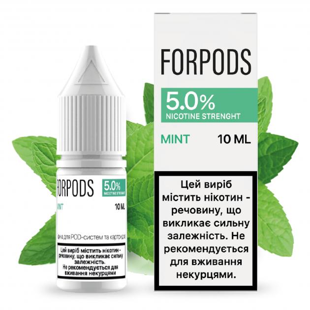Рідина для POD систем FORPODS Mint 50 мг 10 мл (М'ята) (FP-MI-50-10) - зображення 1