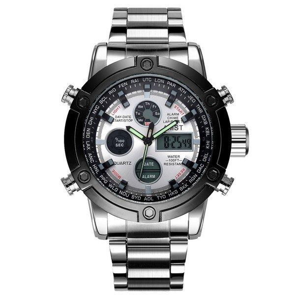 Часы AMST 3022 Metall Silver-Black-Silver - изображение 1