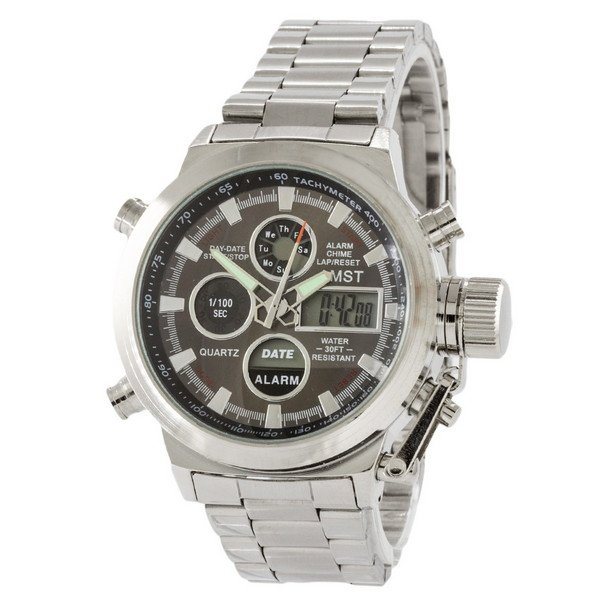 Часы AMST Metall Silver-Black - изображение 1