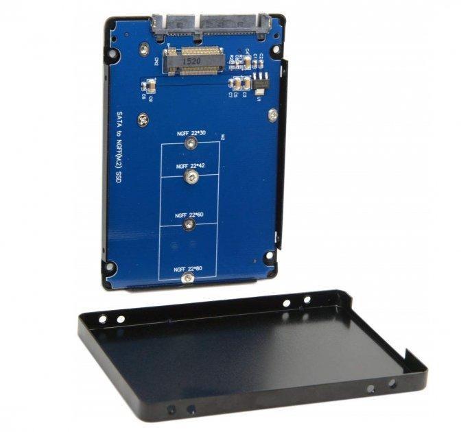 """Конвертор STLab 2.5"""" SATA to M. 2 (NGFF) SSD для ноутбука/ПК (Black) - зображення 1"""