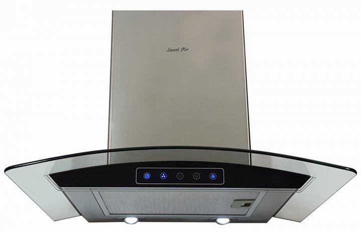 Вытяжка Sweet Air HC 621 F 1200 LED + гофротруба в комплекте нержавеющая сталь - изображение 1