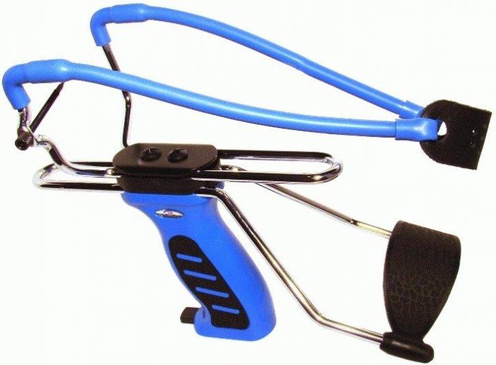 Рогатка Man Kung MK-SL06BL с упором ц:синий. 1000072 - изображение 1