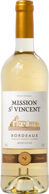 Вино Moelleux 2018 Mission Saint Vincent белое полусладкое 0.75 л 12% (3423290191819) - изображение 1