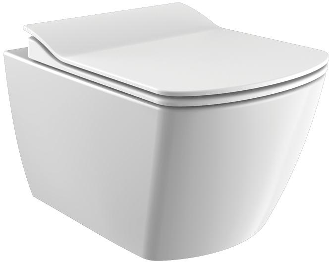 Унитаз подвесной CREAVIT Elegant Rim-Off EG321-11CB00E-0000 + сиденье Soft Close KC1103.01.0000E дюропласт - изображение 1