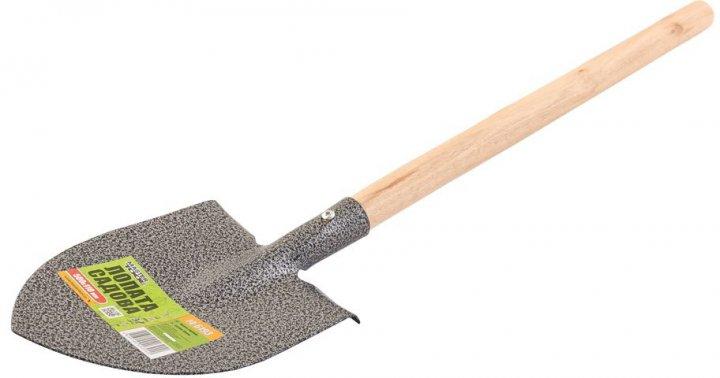 Лопата садовая Mastertool с удлиненной деревянной ручкой 500x110 мм (14-6193) - изображение 1