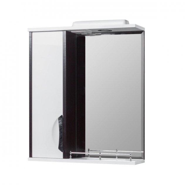 Дзеркало у ванну VERONA Принц 60 см. з підсвічуванням, венге - зображення 1