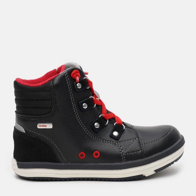 Ботинки демисезонные кожаные Reima 569318-9990 33 Черные (6416134740783)