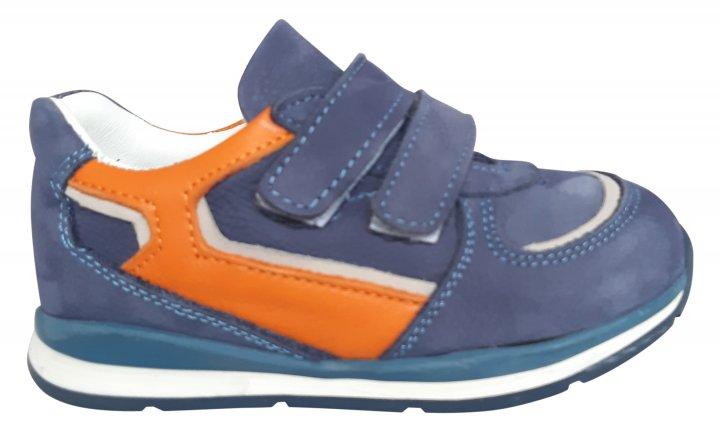 Кроссовки Perlina 4GOLORANGE р. 21 13,5 см Голубой с оранжевым - изображение 1