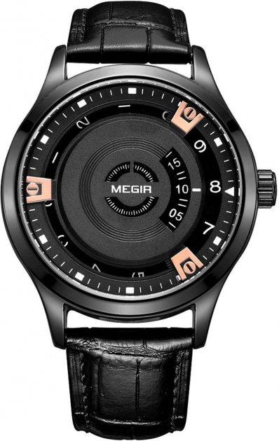 Мужские часы Megir Black MG1067 (ML1067G-BK-1N0) - изображение 1