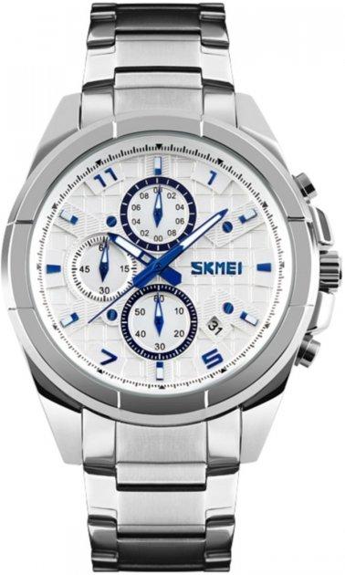 Мужские часы Skmei 9109 Silver White Dail BOX (9109BOXSW) - изображение 1