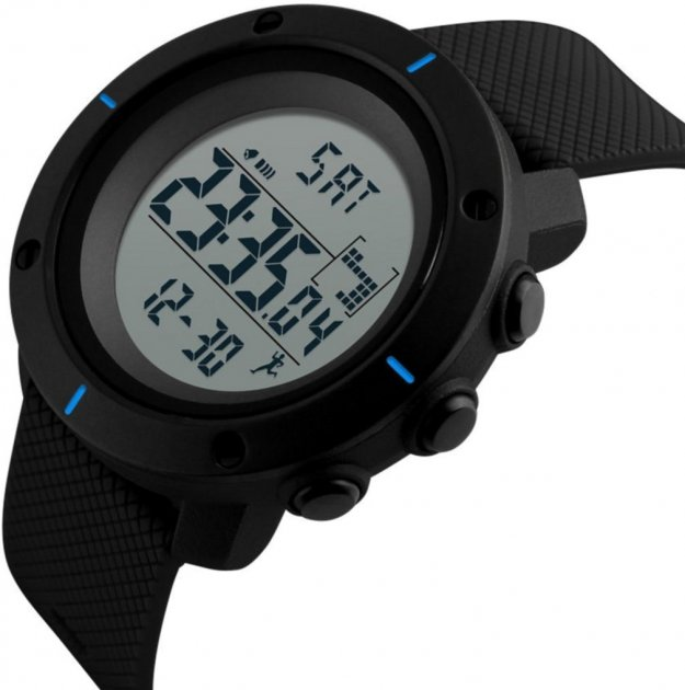 Чоловічий годинник Skmei 1215 BK-Blue BOX (1215BOXBKBL) - зображення 1