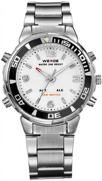 Мужские часы Weide White WH843-2C SS (WH843-2C) - изображение 1