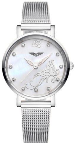 Жіночий годинник Guanqin Silver-White-Silver Flower GS19042 CS (GS19042SWSF) - зображення 1