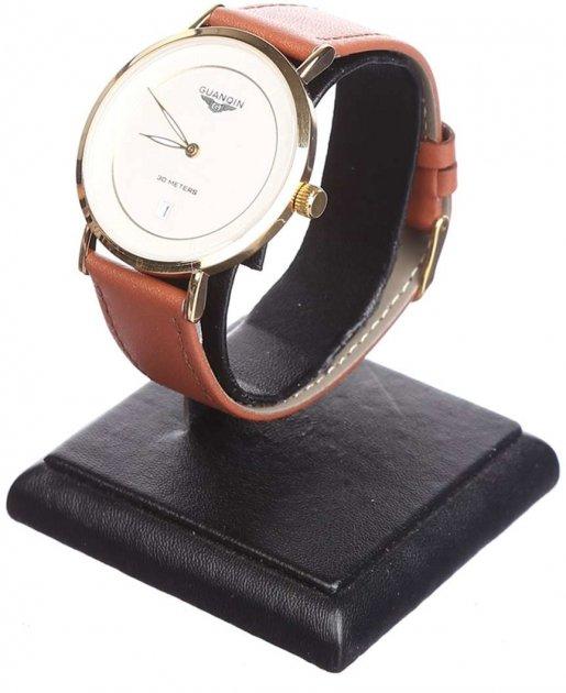 Мужские часы Guanqin Gold-White-LightBrown GS19070 CL (GS19070GWLBr) - изображение 1
