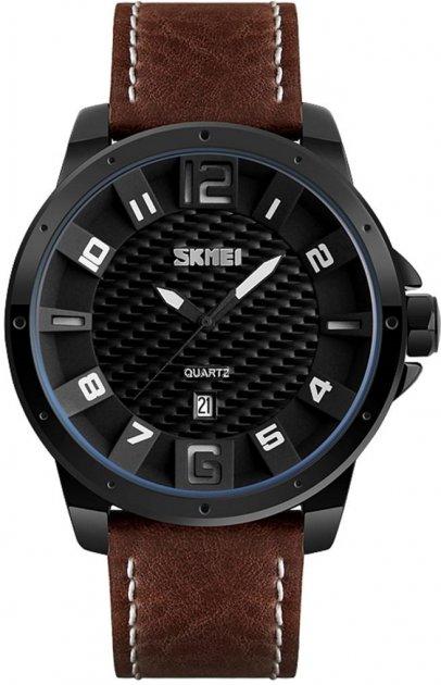 Мужские часы Skmei 9150 BK-coffe strap BOX (9150BOXBKCF) - изображение 1