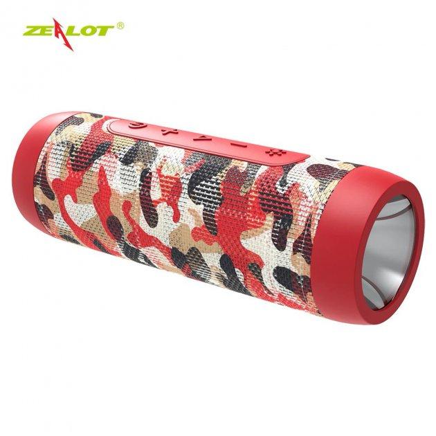 Колонка ZEALOT S22 Red Camouflage 3Вт портативна блютуз 4000 маг Радіо Гучний зв'язок - зображення 1