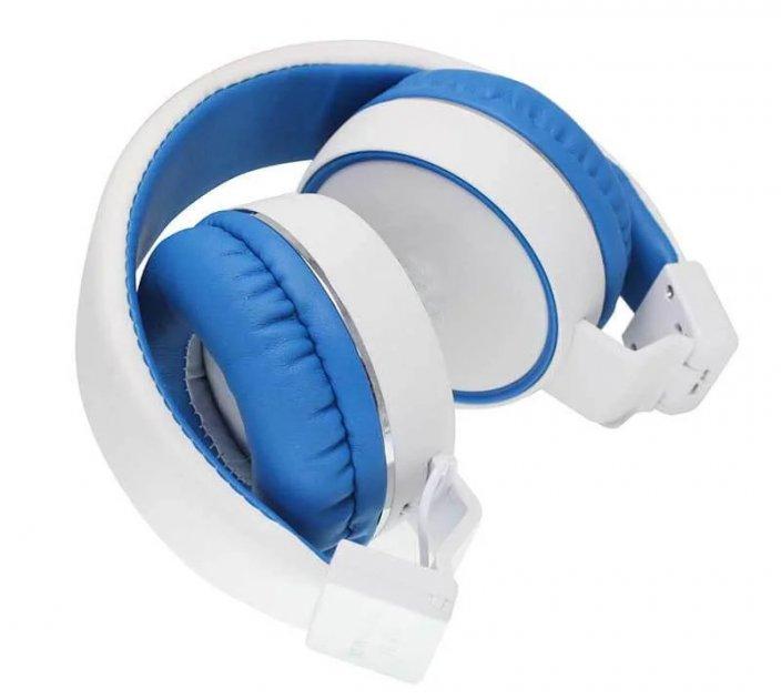 Беспроводные наушники B10 Бело-синие - изображение 1