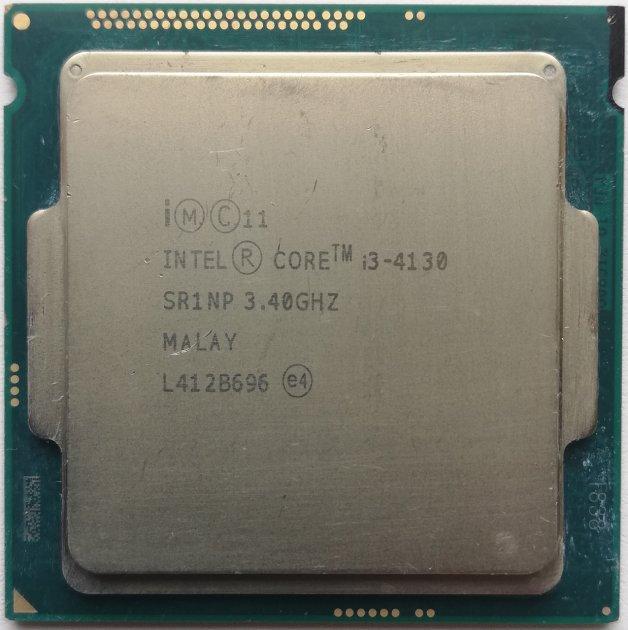 Б/У, Процесор, Intel Core i3-4130, s1150, 4x3.4GHz, 5GTs, 4 потоку, 3MB, 54 Вт, BX80646I34130 - зображення 1